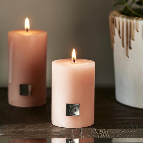 Rustic Candle pretty peach 7 x 10