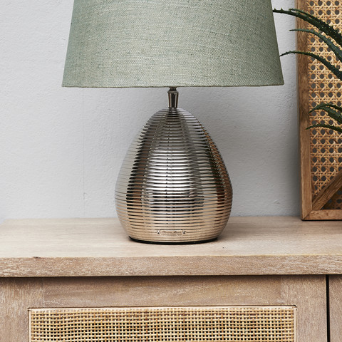 Docklands Round Table Lamp silver