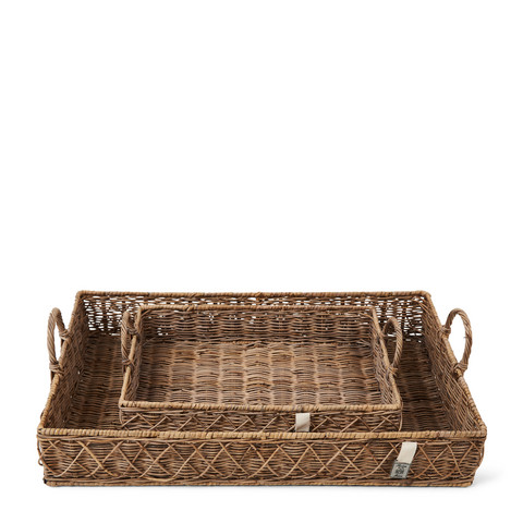 RR Diamond Weave Serving Tray S/2