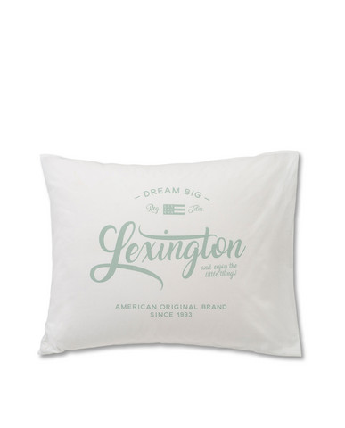 Lexington Printed Pillowcase, White