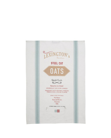 Breakfast Kitchen Towel, White