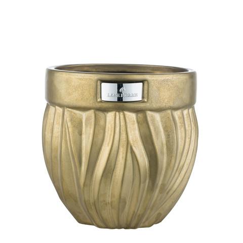 Flamia Flower Pot Antique Goldt  Ø16x16 cm