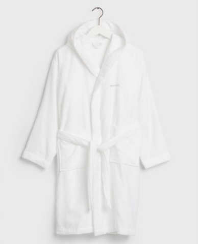 Light Velour Robe White