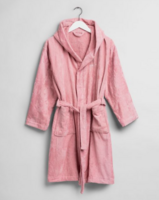 Light Velour Robe White Summer Rose