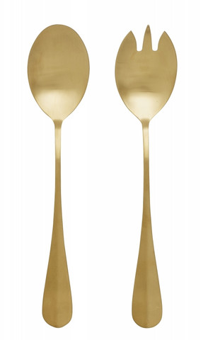 GOLD salad cutlery, s/2