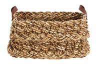 Basket, banana fibres, square w/handles