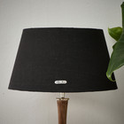 Chic Lampshade black gold 28x38