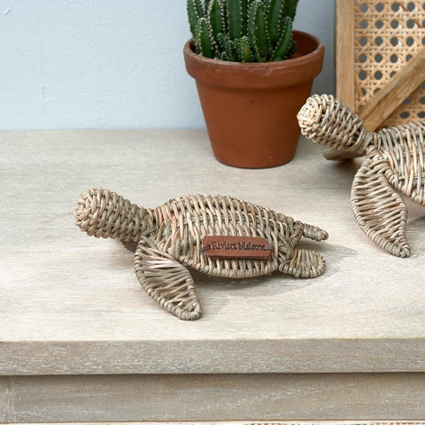 Rustic Rattan Happy Turtle S