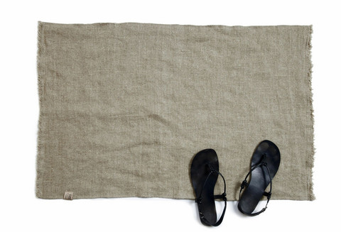 Lovely Linen Bath Mat 60x90 Natural Beige
