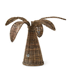 Rustic Rattan Palm Tree S