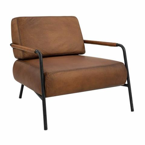 Sinclair armchair Buffalo leather Cognac