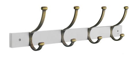Beslagsboden Coat rack Antique Brass/White