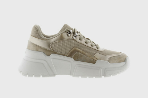 Victoria PU / Netted Totem Sneakers Beige