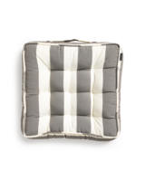 Block stripe Chairpad 40x40 Dark khaki