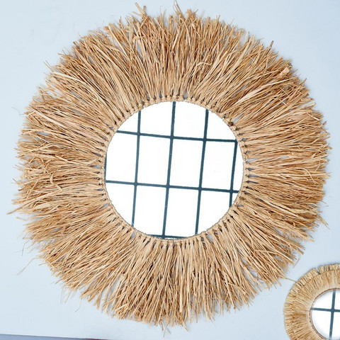 South Cay Raffia Mirror