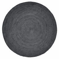 Jute Round carpet 150cm Black