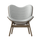 Conversation Piece Armchair Dark oak - Silver grey