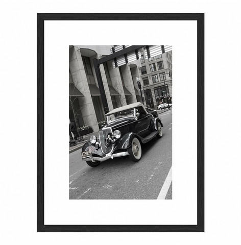Wall art Black Oldtimer 60x80