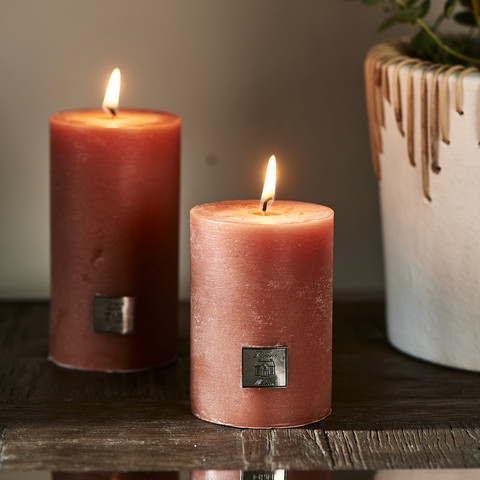 Rustic Candle apricot 7x10