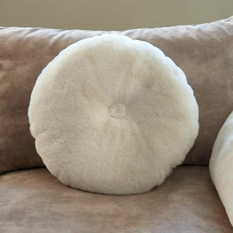 Cosy Pompon Faux Fur Pillow Dia 50