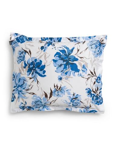 Peony Pillowcase Bright Cobalt 50x60