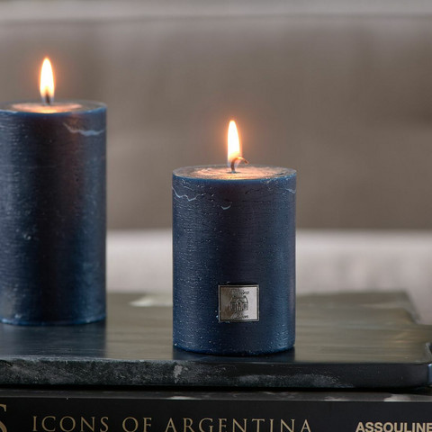 Rustic Candle dress blue 7x10