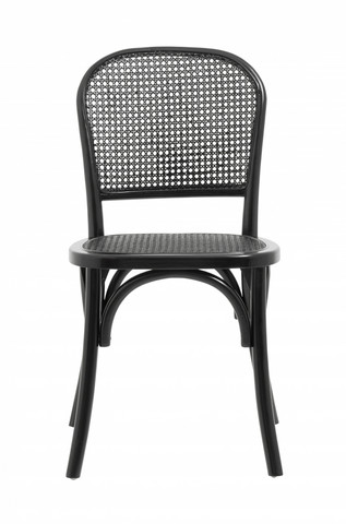 WICKY chair with wickerwork Black