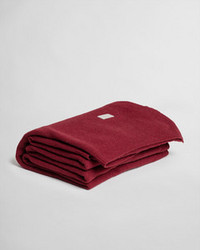 Flow Knit Throw Cabernet red