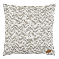 Worn zigzag  Cushion cover 45x45 Beige