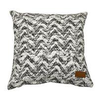 Worn zigzag  Cushion cover 45x45 Black