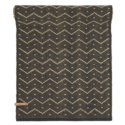 Zick zack Table runner 40x140 Black