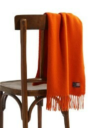 Massachusetts Recycled wool blend scarf Orange