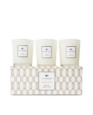 Scented Candle White Mountain (Set of 3)