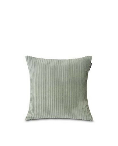 Velvet Cord Cotton Pillow Cover Sage Green