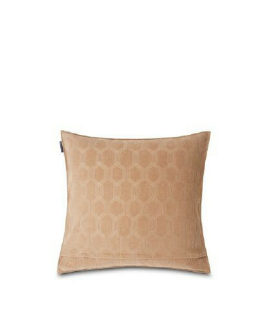 Jacquard Cotton Velvet Pillow Cover 50x50cm Dark Beige
