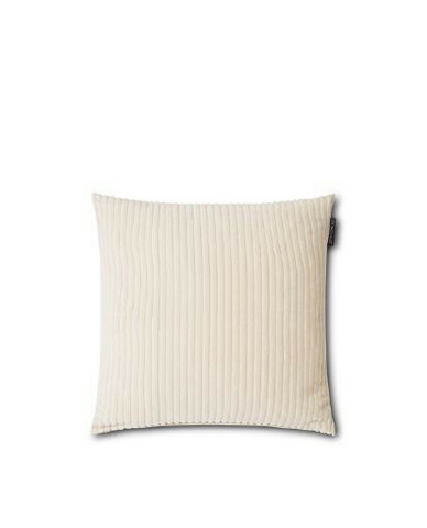 Velvet Cord Cotton Pillow Cover Off White