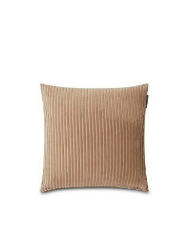 Velvet Cord Cotton Pillow Cover Dark Beige