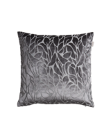 Velvet Leaf Cushion 50x50 Elephant grey