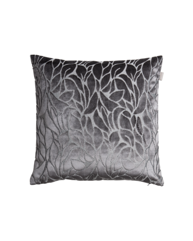 Velvet Leaf Cushion 50x50 Elephant grey