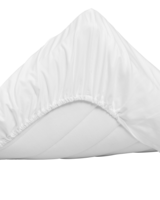 Sateen Single fitted bed sheet 120x200 White