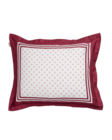 G Border Pillowcase 50x60 Carbernet red
