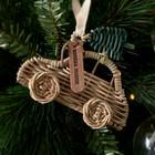 Rustic Rattan Car Ornament