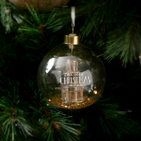 The Best Christmas Ornament Gold Dia 10 cm