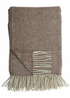 Svanefors brown wool blanket 130 x 170 cm