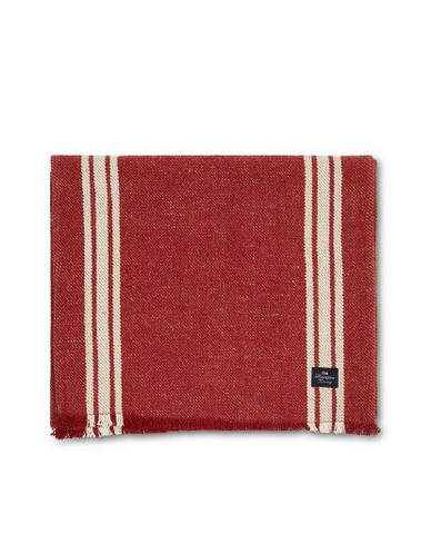 Striped Cotton/Jute Runner with Fringes