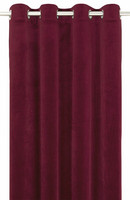 Elise Velvet curtain set Red 135x250