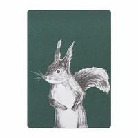 MIIKO squirrel postcard