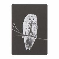MIIKO black owl postcard