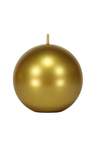 Velvet Ball Candle 10cm  gold