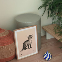 Teemu Järvi poster Fox cub 30 x 40 cm